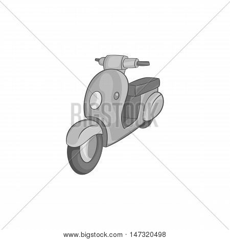 Scooter motorbike icon in black monochrome style on a white background vector illustration
