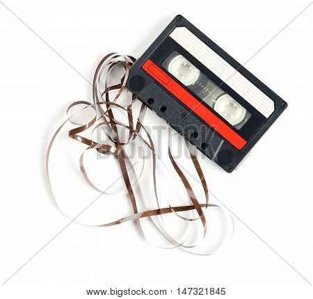 Retro Audiocassette Isolated On White
