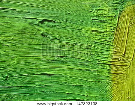 detail of green paint, close up photo