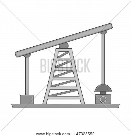 Oil pump icon in black monochrome style on a white background vector illustration