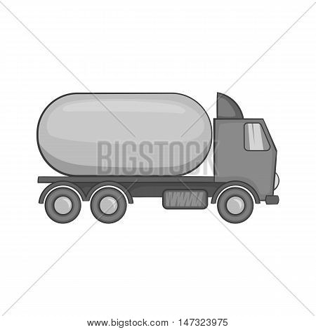 Tanker truck icon in black monochrome style on a white background vector illustration