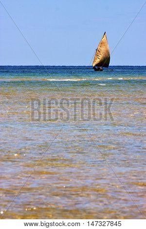 In The  Blue Lagoon  Nosy Iranja  Boat