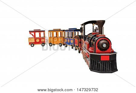 Steam train from the children's amusement park