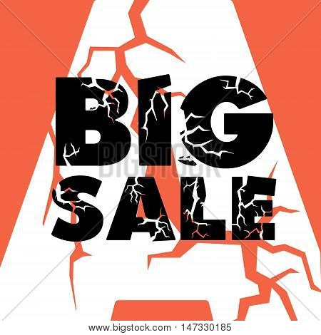 big sale zipper orange Big Sale Banner, Sale Poster, Sale Flyer, Sale Vector. Sale Background. Vector illustration, super sale eps10 graphic
