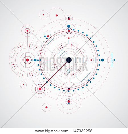 Vector engineering technological background futuristic technical plan mechanism. Mechanical scheme