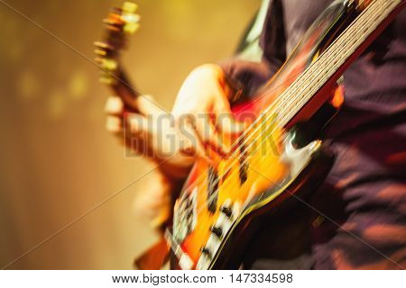 Colorful Blurred Rock Music Background