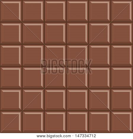 Delicious milk chocolate bar seamless pattern background.