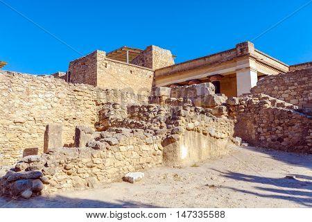 Knossos Palace Ruins in Heraklion Crete Greece