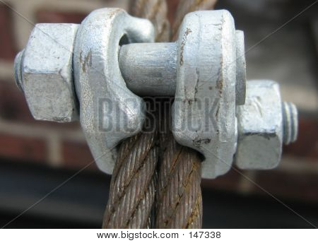 Close Up Of Fist Grip Used On Scaffolds