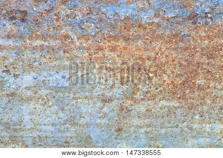 Rust mounted on the surface of the metal