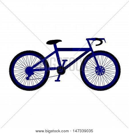 Bike symbol icon on white background. Vector illustration.