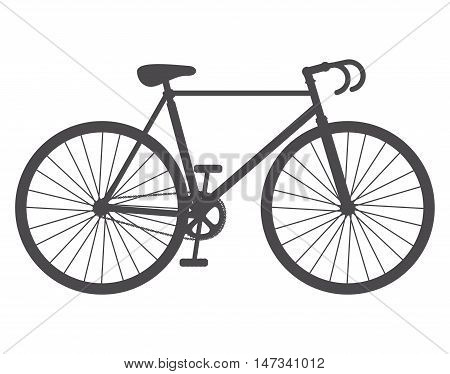 Bike bicycle cycle icon. Healthy lifestyle sport and transportation theme. Isolated design. Vector illustration