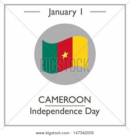 Cameroon Independence Day. January 1