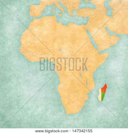 Map Of Africa - Madagascar