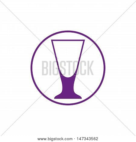 Alcohol beverage theme icon cocktail glass placed in circle.