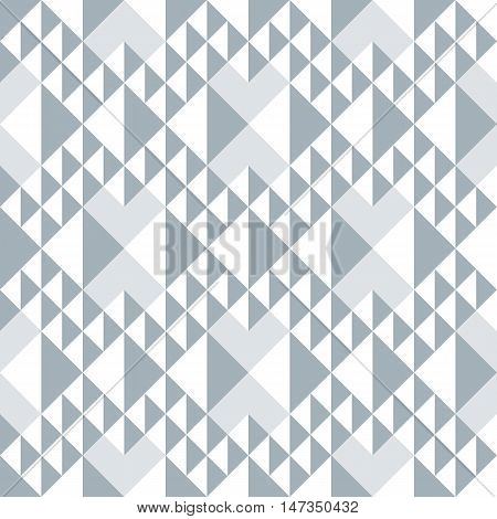 Geometric Abstract Seamless Pattern. Triangle Motif Background. Monochrome Decoration Design