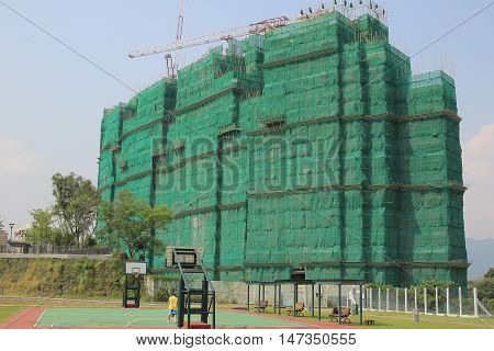 the building construction site at hk at 2014