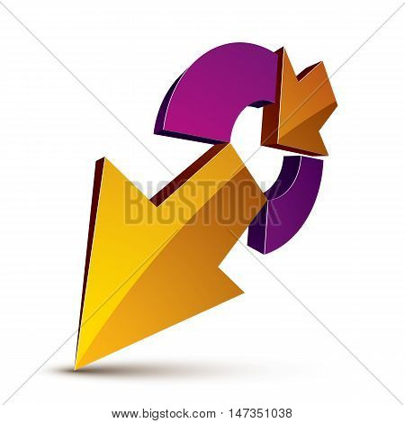 3D Abstract Symbol With An Arrow. Business Growth And Prosperity Concept Vector Design Element, Inno