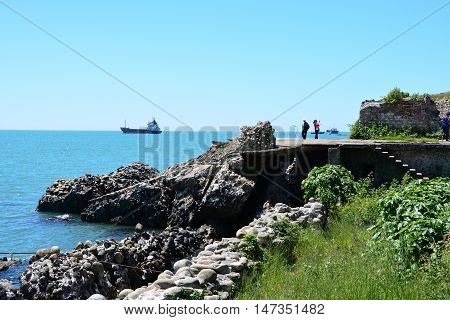 Ruins of ancient Dioscuria in Sukhum, Abkhazia