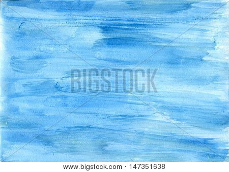 Watercolor Blue background. Hand drawing watercolor. Abstract watercolor background.Watercolor background. Blue watercolor background