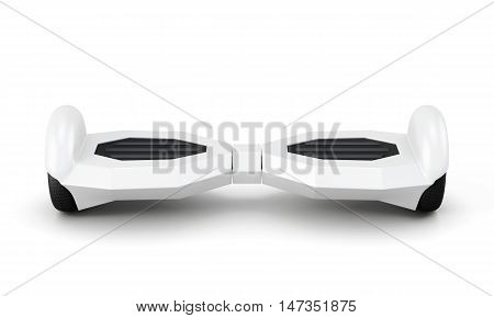 Gyro scooter front view on a white. 3d rendering