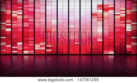 Valentine's day LED panel wall red background
