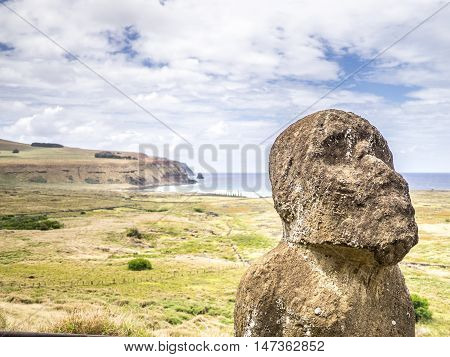 The Old Moai In Easter Island