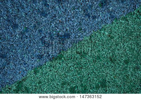 blue-green rubber coating of blue-green texture, blue