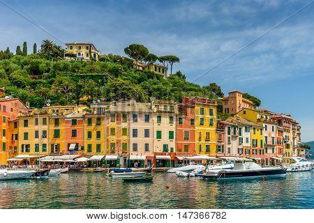 Landscape Marina Portofino in Liguria, Italy, Europe