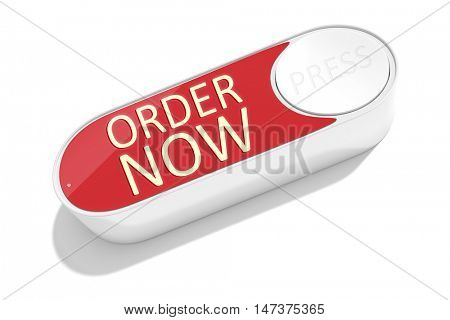 3d rendering of a dash button to order things in the internet