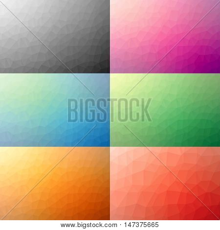 Set of Abstract Colorful Geometric Backgrounds | EPS10 Vector Design