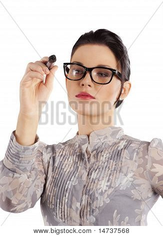 Elegant Woman Writing