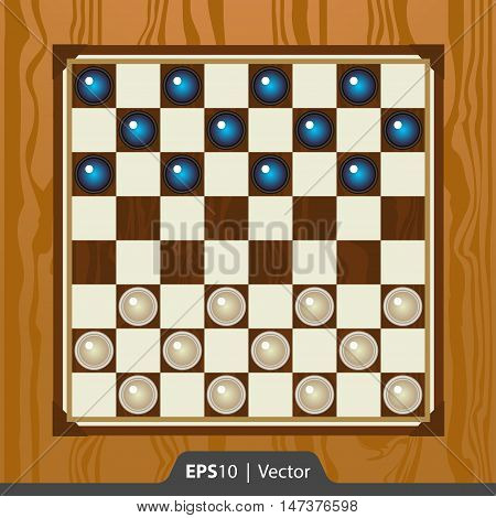 Checkers Set For Game Development Interface Design In Two Colors