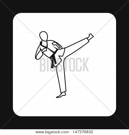 Aikido fighter icon in simple style isolated on white background. Martial arts symbol vector illustration
