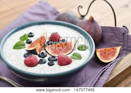 Chia Seed Pudding  With Figs