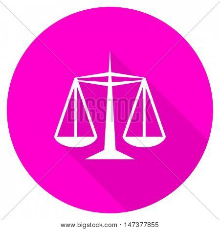 justice flat pink icon