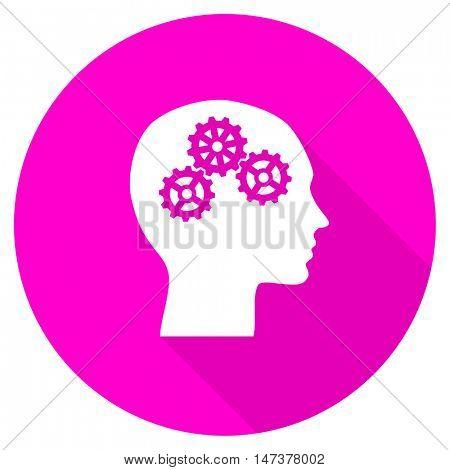 head flat pink icon