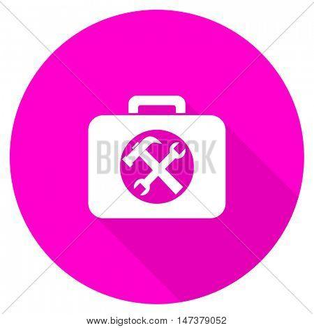 toolkit flat pink icon