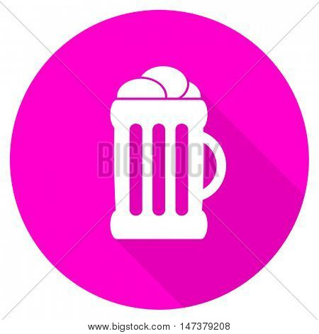 beer flat pink icon