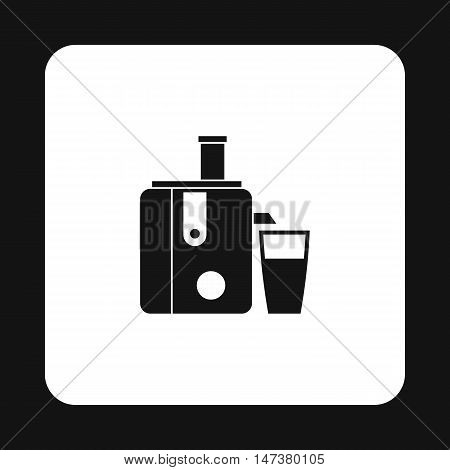 Juicer icon in simple style isolated on white background. Home appliances symbol vector illustration