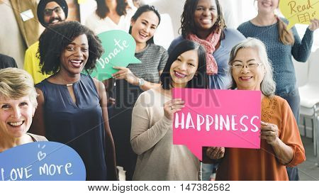 Happiness Positivity Mindset Thinking Wellness Concept