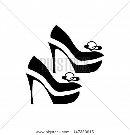 Women dressy shoes icon in simple style isolated on white background. Wear symbol vector illustration