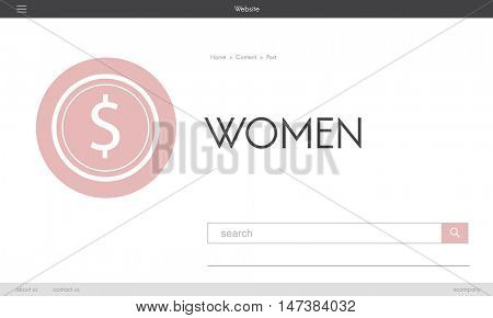 Women Girl Lady Female Online Shopping Woman Concept
