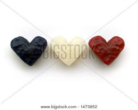 Three Wax Hearts