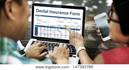 Dental Insurance Form Toothache Oral Mouth Teeth Concept