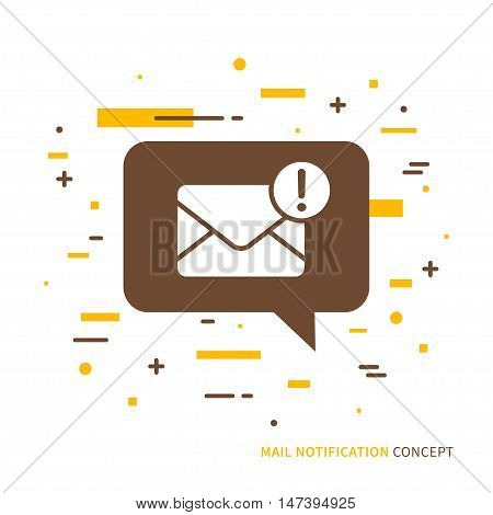 Hello You have got a mail. Linear mobile mail notification. Flat web mail notice. Mail message speech cloud symbol. Creative concept phone mail graphic design. Vector mail notice sign illustration.