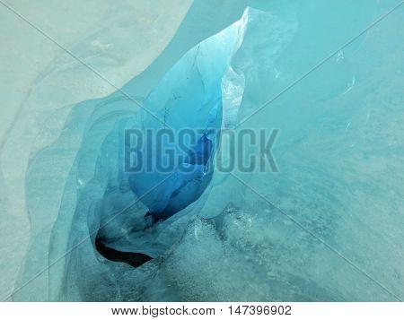 Glacier Nigardsbreen, Norway. Looking Inward blue iceberg.