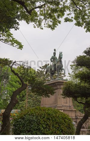 TOKYO  , JAPAN - MAY 2 , 2016 :  travel Ueno Park , Tokyo, Japan. MAY 2 2016. Ueno Park is the most famous place in tokyo