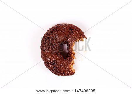 Tasty Chocolate Doughnut On A White Background