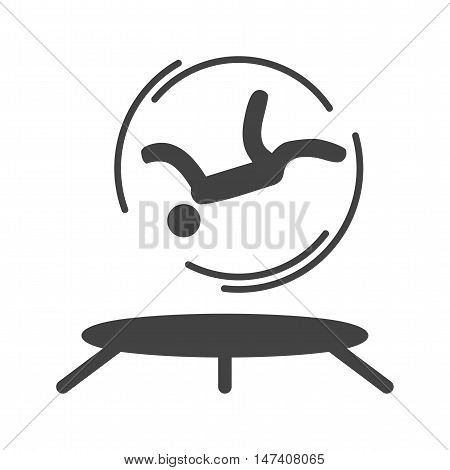 Trampoline, circus, person icon vector image. Can also be used for circus. Suitable for use on web apps, mobile apps and print media.